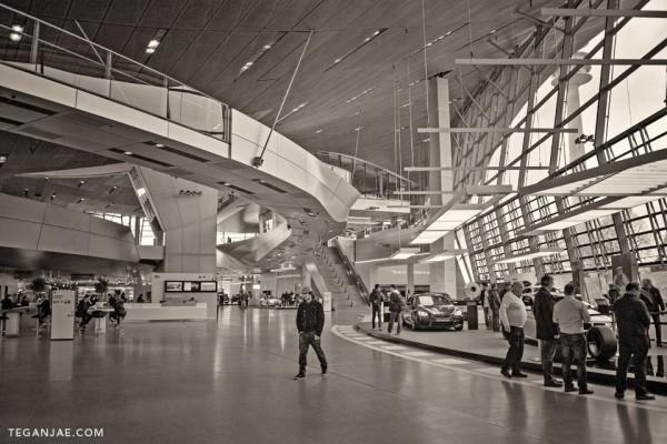 BMW Welt Museum in Munich, Germany