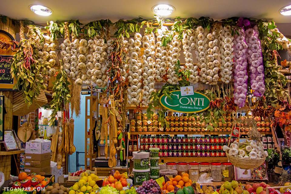 Shopping at Mercato Central in Florence, Italy