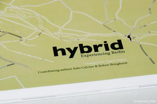 Hybrid - Experiencing Berlin book design