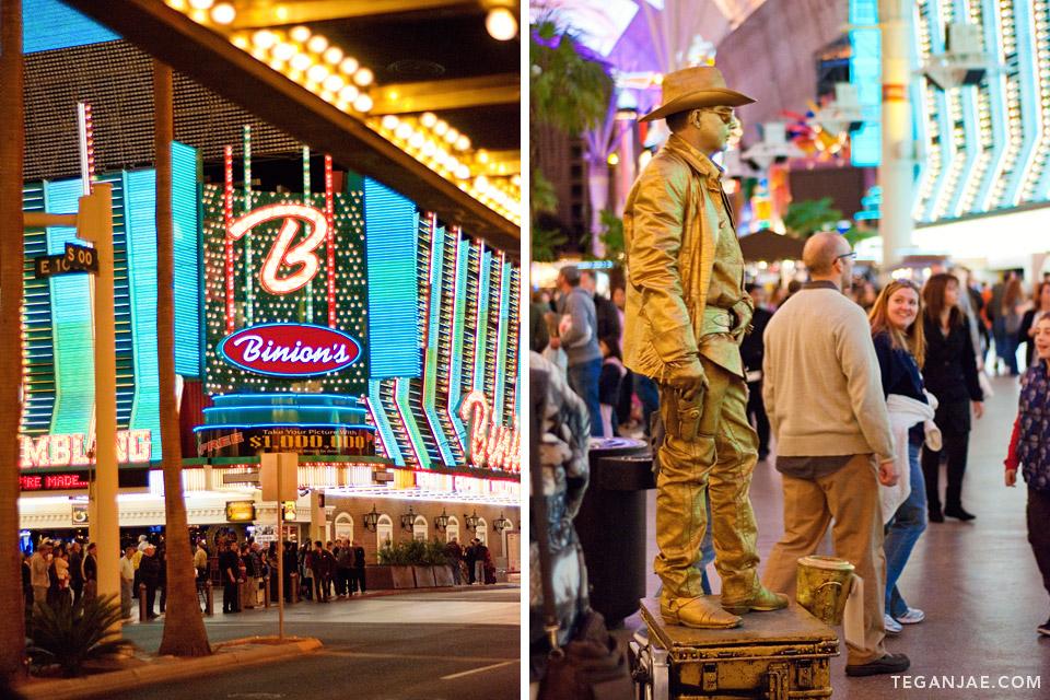 Binion's Fremont Street Experience in Las Vegas, Nevada by Tegan Jae