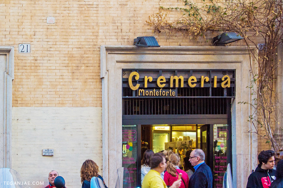 Cremeria Monteforte Gelato near Pantheon in Rome, Italy by Tegan Jae