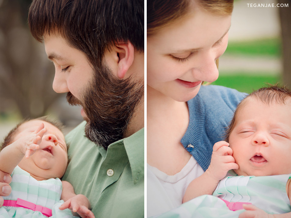 Easter Family Portraits outdoors with newborn by Tegan Jae