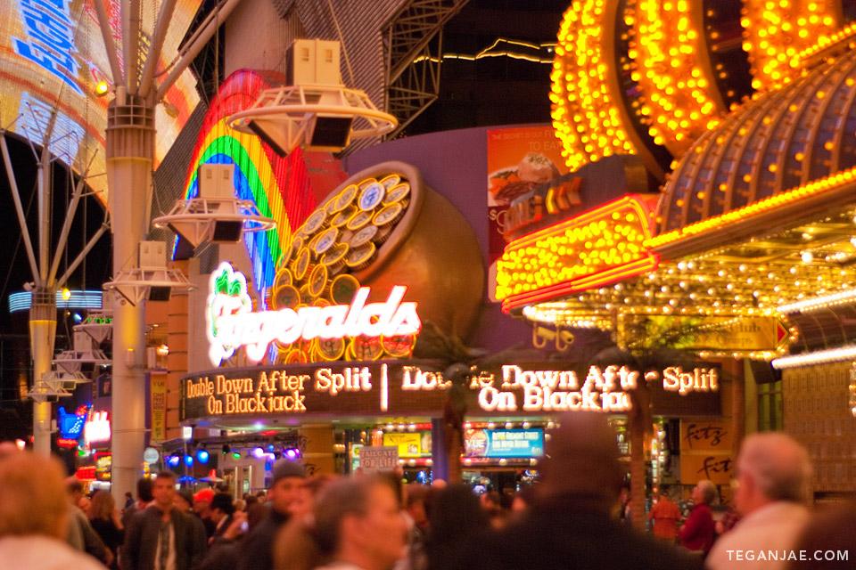 Fitzgeralds Fremont Street Experience in Las Vegas, Nevada by Tegan Jae