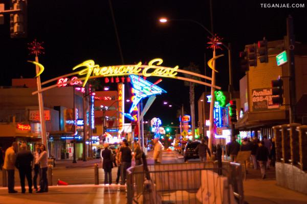 Fremont Street Experience in Las Vegas, Nevada by Tegan Jae