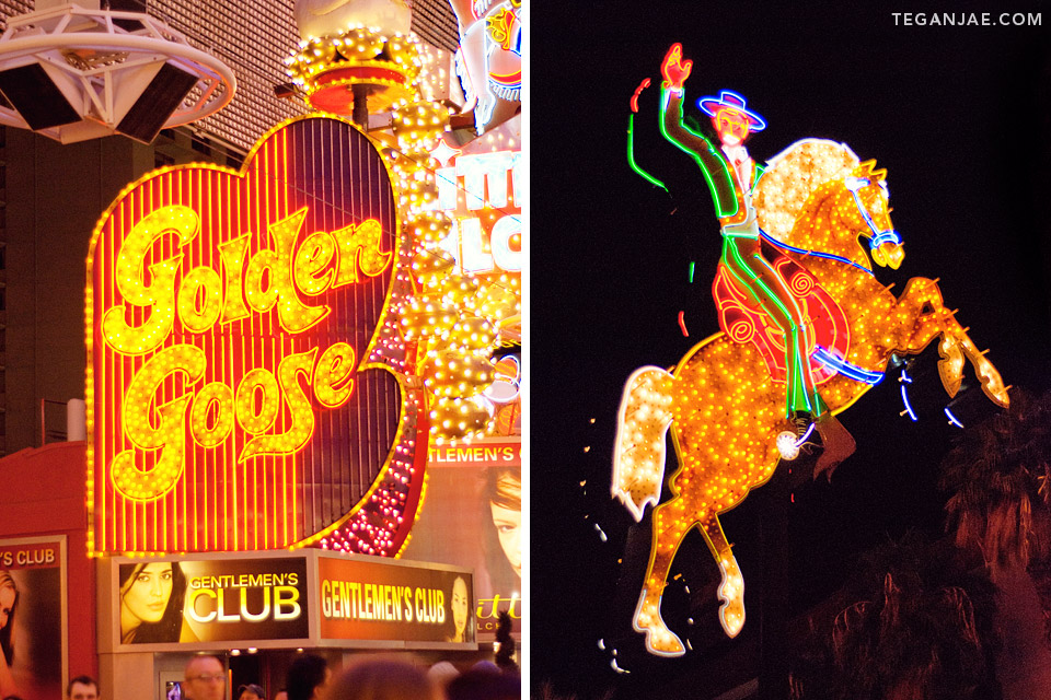 Golden Goose Fremont Street Experience in Las Vegas, Nevada by Tegan Jae