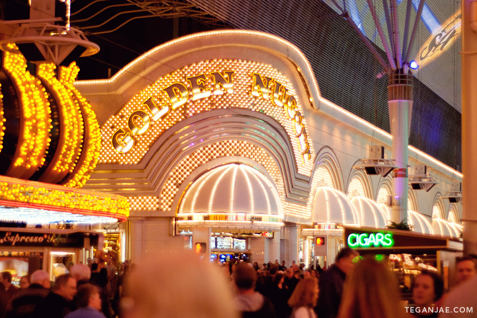Golden Nugget Fremont Street Experience in Las Vegas, Nevada by Tegan Jae