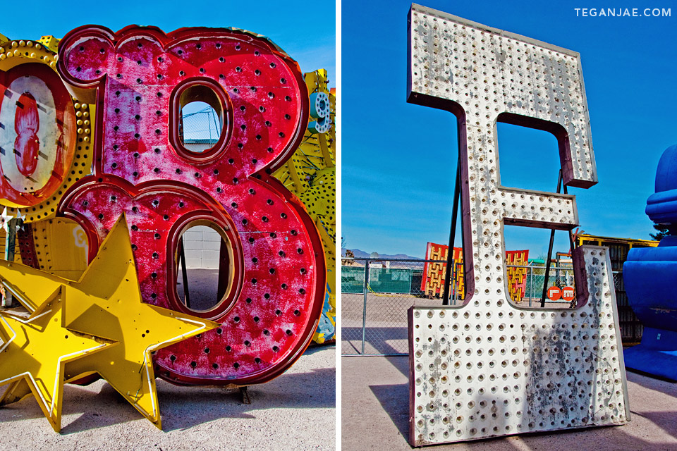 Neon Museum Boneyard in Las Vegas, Nevada by Tegan Jae