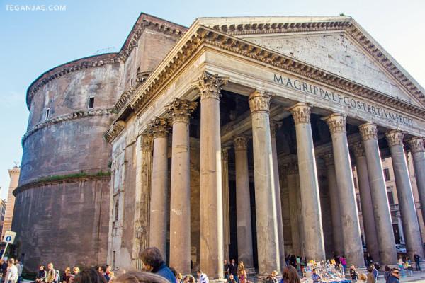 Pantheon columns in Rome, Italy by Tegan Jae