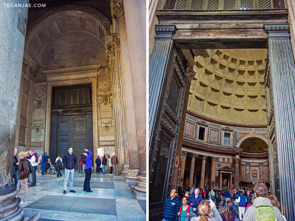Pantheon doors in Rome, Italy by Tegan Jae