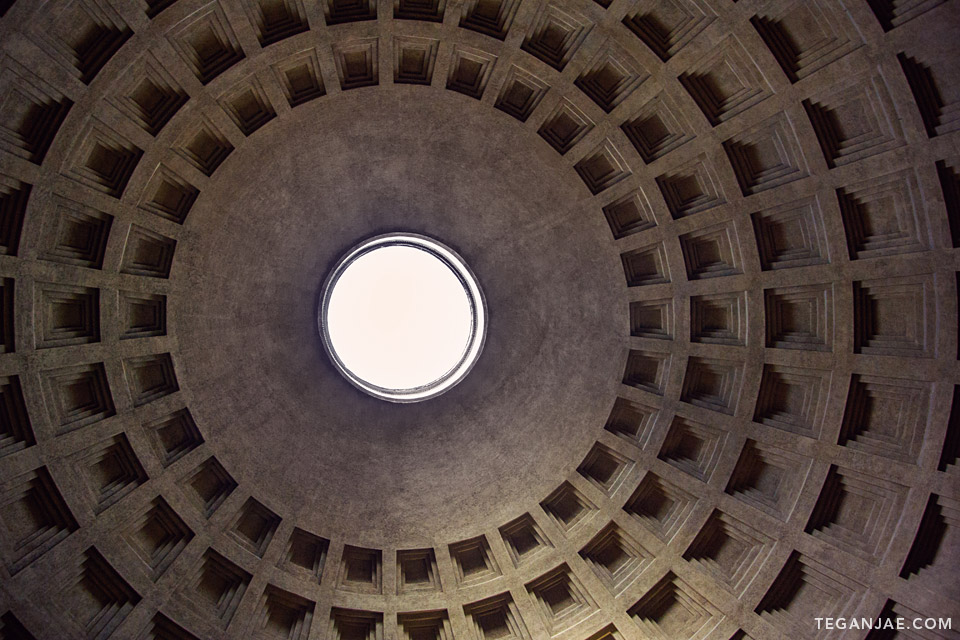 Pantheon dome in Rome, Italy by Tegan Jae